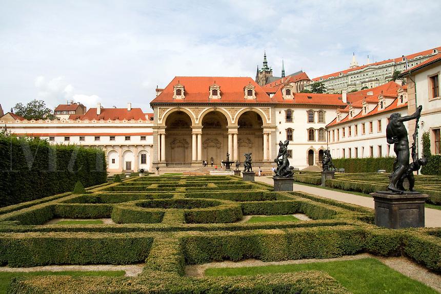 Wallenstein Gardens in the Old Town district , Prague in Czech Republic,