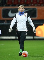 20160302 – ROTTERDAM ,  NEDERLAND : Norway's Kristine Nostmo pictured during the Olympic Qualification Tournament  soccer game between the women teams of Norway and Sweden, The first game for both teams in the Olympic Qualification Tournament for the Olympic games in Rio de Janeiro - Brasil, Wednesday 2 March 2016 at Stadion Woudestein in Rotterdam , Netherlands  PHOTO DIRK VUYLSTEKE