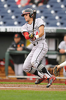 Maryland Terrapins Kevin Smith (4)swings during the Big Ten Tournament game against the Indiana Hoosiers at TD Ameritrade Park on May 25, 2016 in Omaha, Nebraska.  Maryland  won 5-3.  (Dennis Hubbard/Four Seam Images)