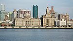 One Of The Most Photographed Views In The World, The Shanghai Bund: China Merchants Building (Left), HSBC, Custom House And The Bank Of Communications.