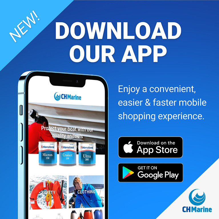 The new CH Marine app brings extra advantages—quicker availability, faster load time, easier access to info