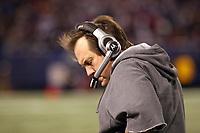 Head Coach Bill Belichick (Patriots)<br /> New York Giants vs. New England Patriots<br /> *** Local Caption *** Foto ist honorarpflichtig! zzgl. gesetzl. MwSt. Auf Anfrage in hoeherer Qualitaet/Aufloesung. Belegexemplar an: Marc Schueler, Am Ziegelfalltor 4, 64625 Bensheim, Tel. +49 (0) 6251 86 96 134, www.gameday-mediaservices.de. Email: marc.schueler@gameday-mediaservices.de, Bankverbindung: Volksbank Bergstrasse, Kto.: 151297, BLZ: 50960101