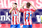 Atletico de Madrid's Angel Correa (l) and Kevin Gameiro celebrate goal during La Liga match. May 21,2017. (ALTERPHOTOS/Acero)