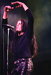 Various live photographs of the rock band, The Cult
