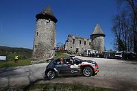 24th April 2021; Zagreb, Croatia; WRC Rally of Croatia, stages 9-16; Yohan Rossel - Citroen C3 WRC2