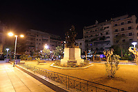 Pictured: The now empty Victoria Square after the authorities transferred the migrants to nearby camps Monday 07 March 2016<br /> Re: Migrants at Victoria Square, in central Athens, Greece.