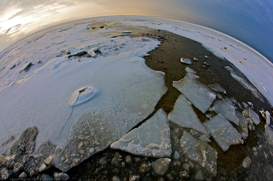 Fish-eye view of the Arctic