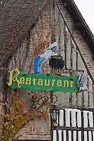 Europe/France/Centre/41/Loir-et-Cher/Sologne/Souvigny-en-Sologne :Enseigne de l'Auberge de la Grange aux oies // Europe/France/Centre/41/Loir-et-Cher/Sologne/Souvigny-en-Sologne :Enseigne of the Inn: la Grange aux oies