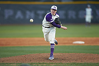 High Point Panthers relief pitcher Bryan Woelfel (57) in action against the Campbell Camels at Williard Stadium on March 16, 2019 in  Winston-Salem, North Carolina. The Camels defeated the Panthers 13-8. (Brian Westerholt/Four Seam Images)