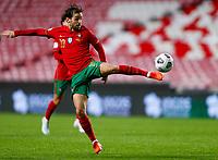 14th November 2020, The Estádio da Luz, Lisbon, Portugal; Nations League International football, Portugal versus France; Bernardo Silva of Portugal clears a high ball