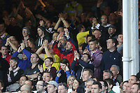 Liverpool, UK. Saturday 01 November 2014<br /> Pictured: Swansea supporters<br /> Re: Premier League Everton v Swansea City FC at Goodison Park, Liverpool, Merseyside, UK.