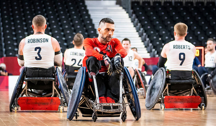 Eric Furtado-Rodrigues, Tokyo 2020 - Wheelchair Rugby // Rugby en fauteuil roulant.<br /> Canada takes on Great Britain in the preliminary round // Le Canada affronte la Grande-Bretagne au tour préliminaire. 25/08/2021.