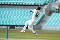 Kemar Roach, Surrey CCC took 3-16 off 8 prior to lunch on day 3 during Surrey CCC vs Hampshire CCC, LV Insurance County Championship Group 2 Cricket at the Kia Oval on 1st May 2021