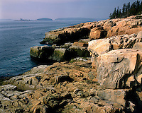 Afternoon light on the rocky shore on Schoodic Peninsula; Acadia National Park, ME