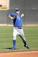John Lamb #12 of the Kansas City Royals participates in minor league spring training workouts at the Royals complex on March 26, 2011  in Surprise, Arizona. .Photo by:  Bill Mitchell/Four Seam Images.