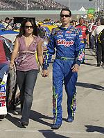 HOMESTEAD, FL - NOVEMBER 19, 2006 :  Kyle Busch; Erica Dawn Dewey at the NASCAR Nextel Cup Series Ford 400, at Homestead-Miami speedway in Homestead, Florida<br /> <br /> <br /> People:  Kyle Busch; Erica Dawn Dewey