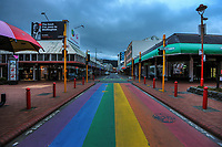Cuba Mall at 8.30am during Level 4 lockdown for the COVID-19 pandemic in Wellington, New Zealand on Monday, 23 August 2021.
