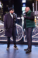 NEW YORK CITY - DECEMBER 31: (L-R) LL Cool J and host Steve Harvey appear on FOX'S NEW YEAR'S EVE WITH STEVE HARVEY: LIVE FROM TIMES SQUARE on December 31, 2019 in New York City. (Photo by Anthony Behar/Fox/PictureGroup)