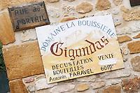 wine shop domaine la bouissiere gigondas rhone france