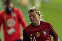 ORLANDO, FL - JANUARY 22: Jane Campbell #24 exits the field at half during a game between Colombia and USWNT at Exploria stadium on January 22, 2021 in Orlando, Florida.