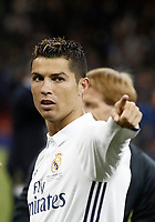 Calcio, Champions League: finale Juventus vs Real Madrid. Cardiff, Millennium Stadium, 3 giugno 2017.<br /> Real Madrid's Cristiano Ronaldo gestures at the end of the Champions League final match between Juventus and Real Madrid at Cardiff's Millennium Stadium, Wales, June 3, 2017. Real Madrid won 4-1.<br /> UPDATE IMAGES PRESS/Isabella Bonotto