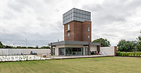 BNPS.co.uk (01202 558833)<br /> Pic: OnTheMarket/BNPS.<br /> <br /> A historic World War Two POW water tower has emerged on the market for £1.2million after being converted into a modern family home.<br /> <br /> The original red brick structure was once part of 78 Working Camp, which housed 700 Italian and German prisoners in the Essex countryside near Braintree.<br /> <br /> It doubled as a secret communications hub, sending early warning signals of enemy aircraft to Wethersfield, an American airbase five miles away.   <br /> <br /> The derelict tower, dating from 1938, and one acre plot in High Garrett, near Braintree, were bought by Jon Oakley and his wife Vicky for £285,000 in 2017. It had been unused since 1950.<br /> <br /> They have spent several hundred thousand pounds converting it into a five storey home with four en-suite bathrooms and a ground floor extension. A top level has been added to the 50ft structure to replace the water tank which was removed following the war.