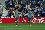 Real Sociedad's Asier Illarramendi (l) and David Zurutuza (r) during La Liga match. August 24, 2018. (ALTERPHOTOS/A. Perez Meca)