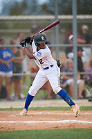 Addrian McNeal (2) during the WWBA World Championship at Lee County Player Development Complex on October 10, 2020 in Fort Myers, Florida.  Addrian McNeal, a resident of Lithonia, Georgia who attends Redan High School, is committed to Liberty.  (Mike Janes/Four Seam Images)