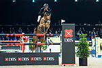 Kevin Staut of France riding Ayade de Septon et HDC competes in the Hong Kong Jockey Club Trophy during the Longines Masters of Hong Kong at the Asia World Expo on 09 February 2018, in Hong Kong, Hong Kong. Photo by Diego Gonzalez / Power Sport Images