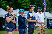 AUS-team watch Kevin McNab during the Dressage for the CCI-S 4*. 2021 GBR-Bicton International Horse Trials. Devon. Great Britain. Friday 11 June. Copyright Photo: Libby Law Photography