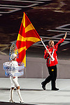Olympic team of Republic of Macedonia during the parade of nations at the Opening ceremony of the 2014 Sochi Olympic Winter Games at Fisht Olympic Stadium on February 7, 2014 in Sochi, Russia. Photo by Victor Fraile / Power Sport Images