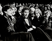 1984 FILE PHOTO - ARCHIVES -<br /> <br /> Who, me? Murray McLauchlan looks like he can't believe his ears as he is announced winner of country male vocalist of the Year. Girlfriend Karen Ucci congratulates him.<br /> <br /> 1984<br /> <br /> PHOTO :  Erin Comb - Toronto Star Archives - AQP