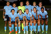 Piscataway, NJ - Sunday Sept. 25, 2016: Sky Blue FC Starting 11 prior to a regular season National Women's Soccer League (NWSL) match between Sky Blue FC and the Portland Thorns FC at Yurcak Field.