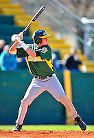 19 April 2009: University of Vermont Catamounts' outfielder Corey Moylan, a Sophomore from Glenview, IL, at bat against the University at Albany Great Danes at Historic Centennial Field in Burlington, Vermont. The Great Danes defeated the Catamounts 9-4 in the second game of a double-header. Sadly, the Catamounts are playing their last season of baseball, as the program has been marked for elimination due to budgetary constraints on the University. Mandatory Photo Credit: Ed Wolfstein Photo
