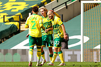 1st May 2021; Carrow Road, Norwich, Norfolk, England, English Football League Championship Football, Norwich versus Reading; Teemu Pukki of Norwich City celebrates after he scores for 4-1