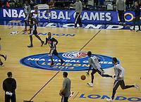 15.01.2014 London, England.  Atlanta Hawks' practice during the NBA Media Day, prior  to the NBA Basketball Global Game between Atlanta Hawks v Brooklyn Nets taking place at the O2 Arena London Jan 16th