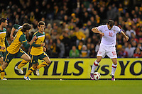 MELBOURNE, AUSTRALIA - JUNE 7: Dejan Stankovic of Serbia controls the ball during an international friendly match between the Qantas Australian Socceroos and Serbia at Etihad Stadium on June 7, 2011 in Melbourne, Australia. Photo by Sydney Low / AsteriskImages.com