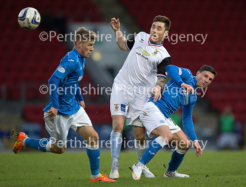 St Johnstone v Inverness Caledonian Thistle...20.12.14   SPFL<br /> Michael O'Halloran and Greg Tansey<br /> Picture by Graeme Hart.<br /> Copyright Perthshire Picture Agency<br /> Tel: 01738 623350  Mobile: 07990 594431
