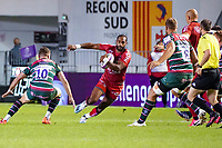 26th September 2020; Toulon, France; European Challenge Cup Rugby, semi-final; RC Toulon versus Leicester Tigers;  Daniel Ikpefan (RC Toulon) tries to jig past George Ford of Leicester