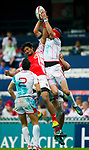 Tonga play Tunisia in a Qualifier Quarter Final on Day 3 of the Cathay Pacific / HSBC Hong Kong Sevens 2013 on 24 March 2013 at Hong Kong Stadium, Hong Kong. Photo by Manuel Queimadelos / The Power of Sport Images