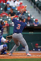 Lehigh Valley IronPigs shortstop J.P. Crawford (3) at bat during a game against the Buffalo Bisons on July 9, 2016 at Coca-Cola Field in Buffalo, New York.  Lehigh Valley defeated Buffalo 9-1 in a rain shortened game.  (Mike Janes/Four Seam Images)