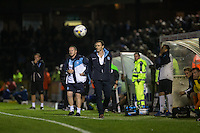 Gareth Ainsworth manager of Wycombe Wanderers watches the match unfold during the Johnstone's Paint Trophy match between Bristol Rovers and Wycombe Wanderers at the Memorial Stadium, Bristol, England on 6 October 2015. Photo by Andy Rowland.
