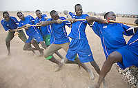 Tug of war, the most popular event, at the Twic Olympics in Wunrok, Southern Sudan.