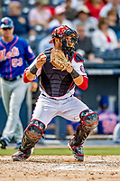 7 March 2019: Washington Nationals catcher Yan Gomes in action during a Spring Training Game against the New York Mets at the Ballpark of the Palm Beaches in West Palm Beach, Florida. The Nationals defeated the visiting Mets 6-4 in Grapefruit League, pre-season play. Mandatory Credit: Ed Wolfstein Photo *** RAW (NEF) Image File Available ***
