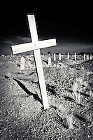 Desolate Cemetery Cross - Arizona - Salt River Indian Reservation just east of Scottsdale. © 2012 Cheyenne L Rouse/All rights reserved