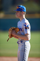 Todd Dearborn (1) of Patriot High School in Jeffersonton, Virginia during the Baseball Factory All-America Pre-Season Tournament, powered by Under Armour, on January 13, 2018 at Sloan Park Complex in Mesa, Arizona.  (Mike Janes/Four Seam Images)