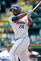Fort Myers Miracle third baseman Miguel Sano #24 during a game against the Bradenton Marauders at McKechnie Field on April 7, 2013 in Bradenton, Florida.  Fort Myers defeated Bradenton 9-8 in ten innings.  (Mike Janes/Four Seam Images)