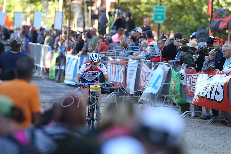Riders participate in the Epic Rides Carson City Off-Road women's Pro Criterium in Carson City, Nev., on Friday, June 17, 2016.<br />Photo by Cathleen Allison