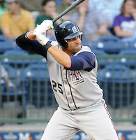 11 April 2008: Cesar Nicolas of the Mobile BayBears, Class AA affiliate of the Arizona Diamondbacks, in a game against the Mississippi Braves at Trustmark Park in Pearl, Miss. Photo by:  Tom Priddy/Four Seam Images