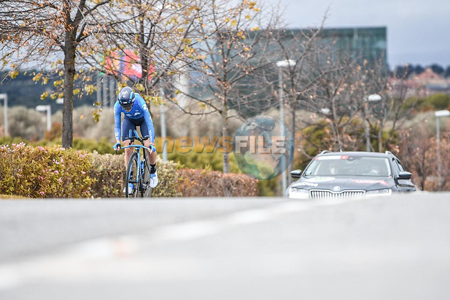 Movistar Team Women in action during Stage 2 of the CERATIZIT Challenge by La Vuelta 2020, an individual time trial running 9.3km around Boadilla del Monte, Spain. 6th November 2020.<br /> Picture: Antonio Baixauli López/BaixauliStudio | Cyclefile<br /> <br /> All photos usage must carry mandatory copyright credit (© Cyclefile | Antonio Baixauli López/BaixauliStudio)